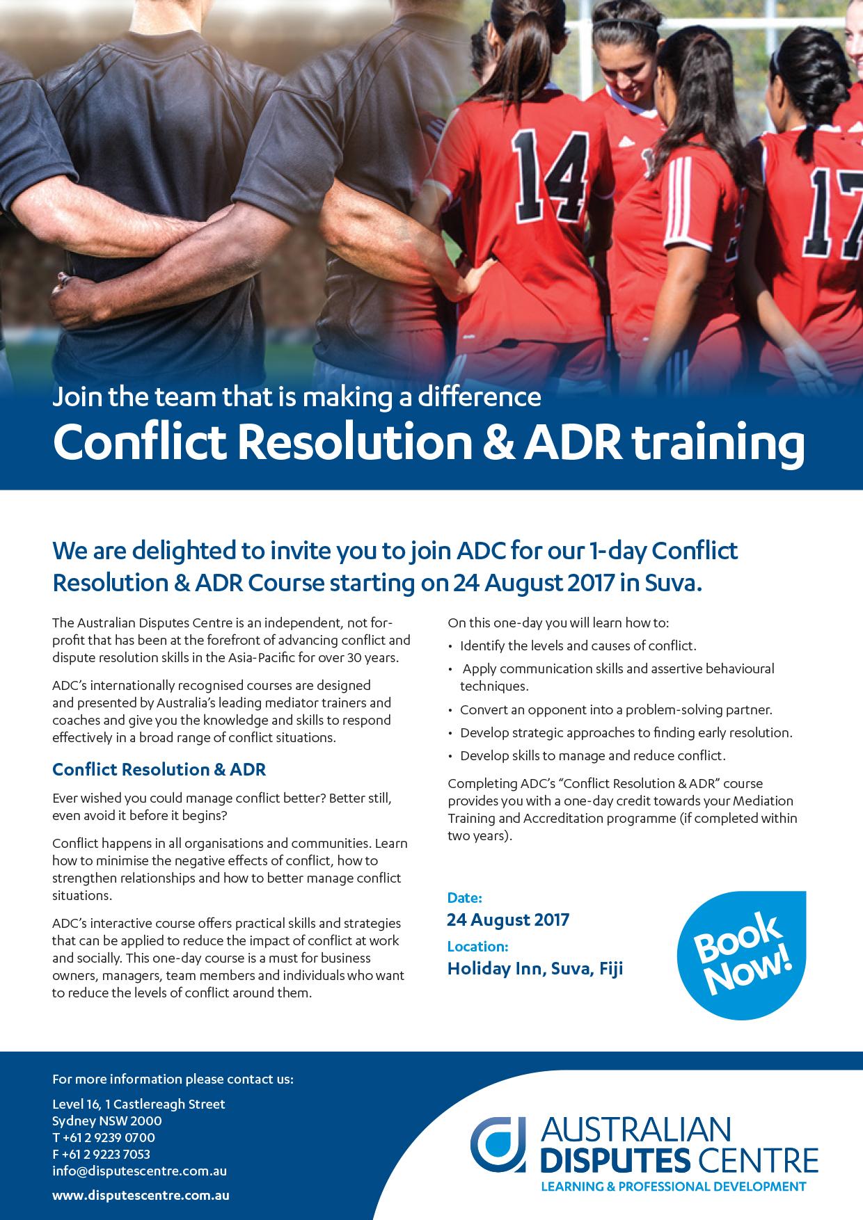 Conflict Resolution & ADR - Suva Fiji | Australian Disputes Centre